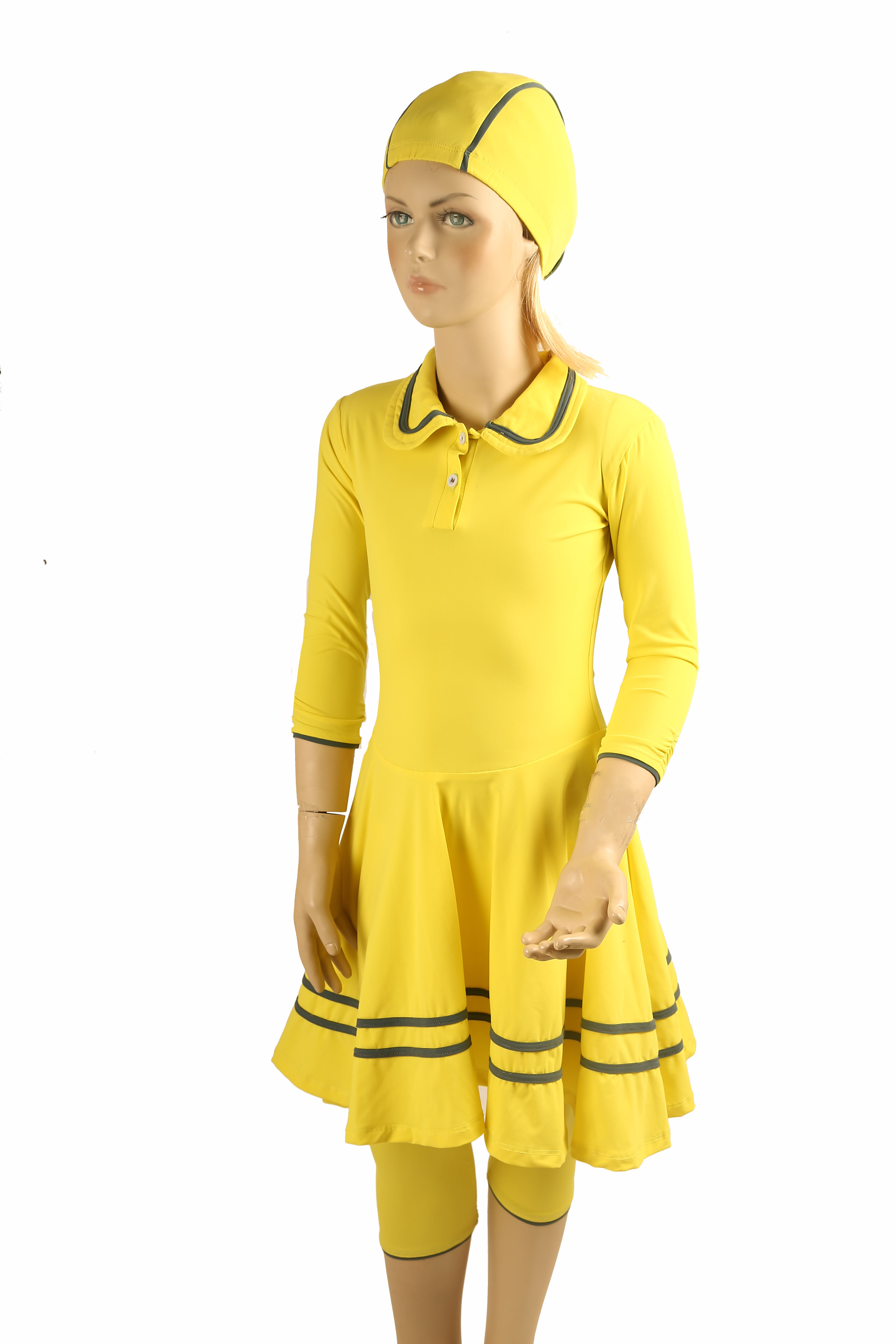 4139750aa yellow polo Modest swimwear juniors - Sea Secret