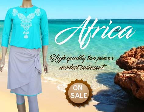 Africa two pieces modest swimsuit