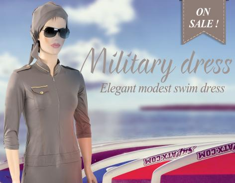 modest  swimsuit military style