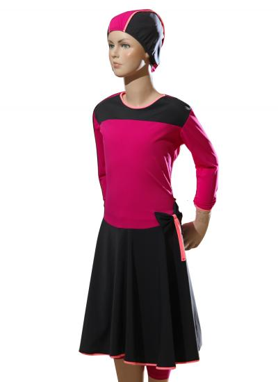 front-teen ballet modest swimwear