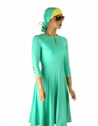 Front-Mint flared modest swimdress