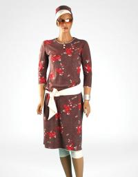 Front-flower tunic modest swimwear