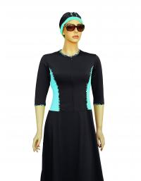 front magic aquatic turquoise-plus size modest swimdress