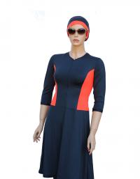 CORAL MAGIC - Front modest swimdress